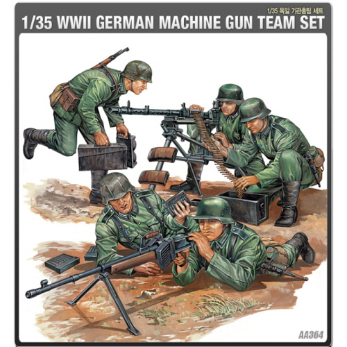 1/35 WW II GERMAN MACHINE GUN TEAM SET 독일 기관총팀 세트