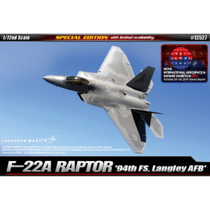 [ACA12527] 1/72 F-22A RAPTOR 94th FS, Langley AFB 미공군 F-22A 랩터