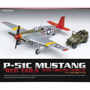1/72 P-51C MUSTANG RED TAILS 무스탕 [ACA12501]