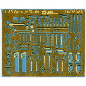[LW35086] 1:35 Mechanic Tools Connectionless Photoetch